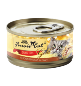 Fussie Cat Fussie Cat Can Gold Chicken in Gravy 2.8oz