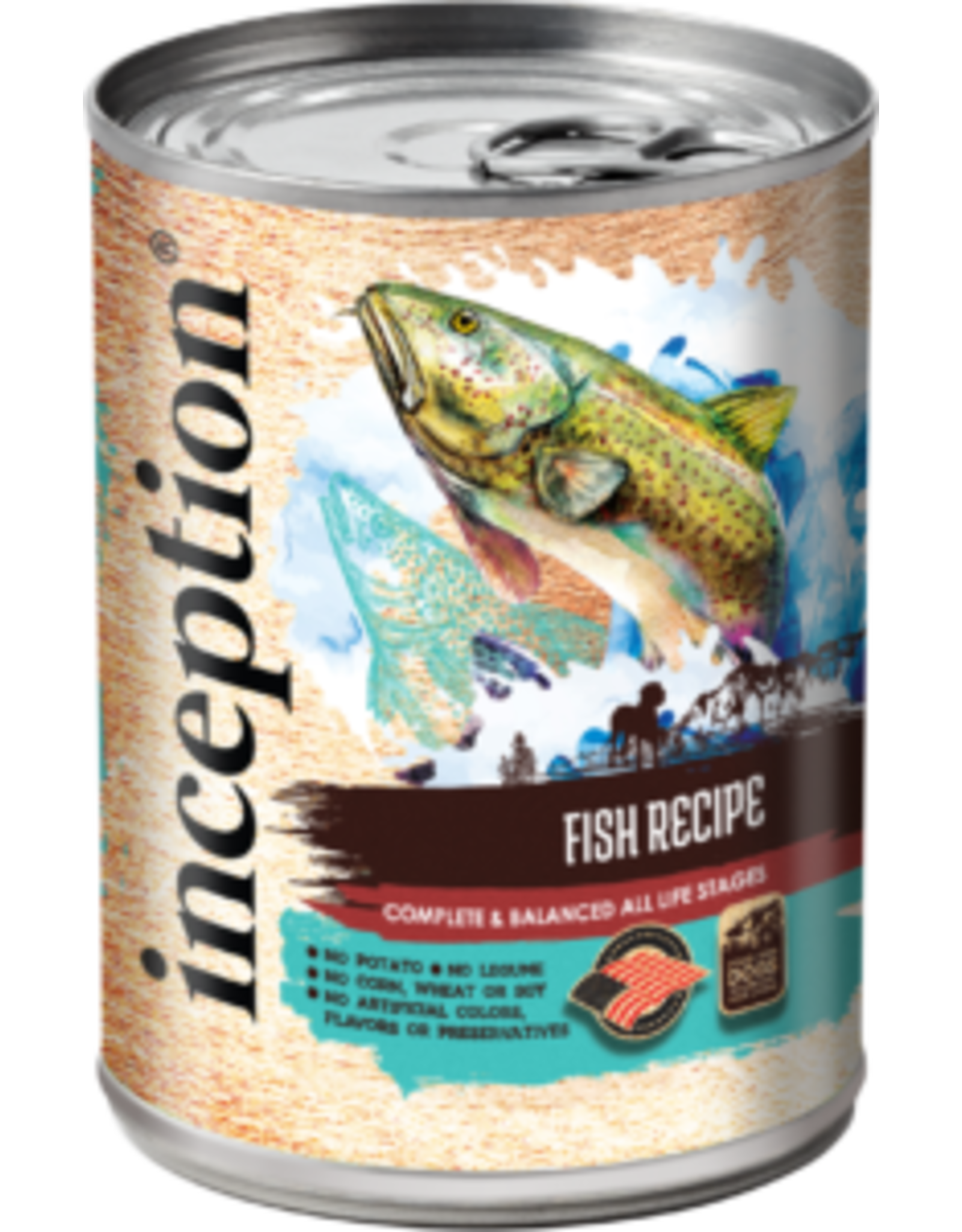 Inception Inception Wet Dog Food Fish Recipe 13oz Can