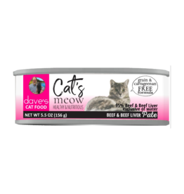 Dave's Pet Food Dave's Can Cat's Meow 95% Beef & Liver 5.5oz
