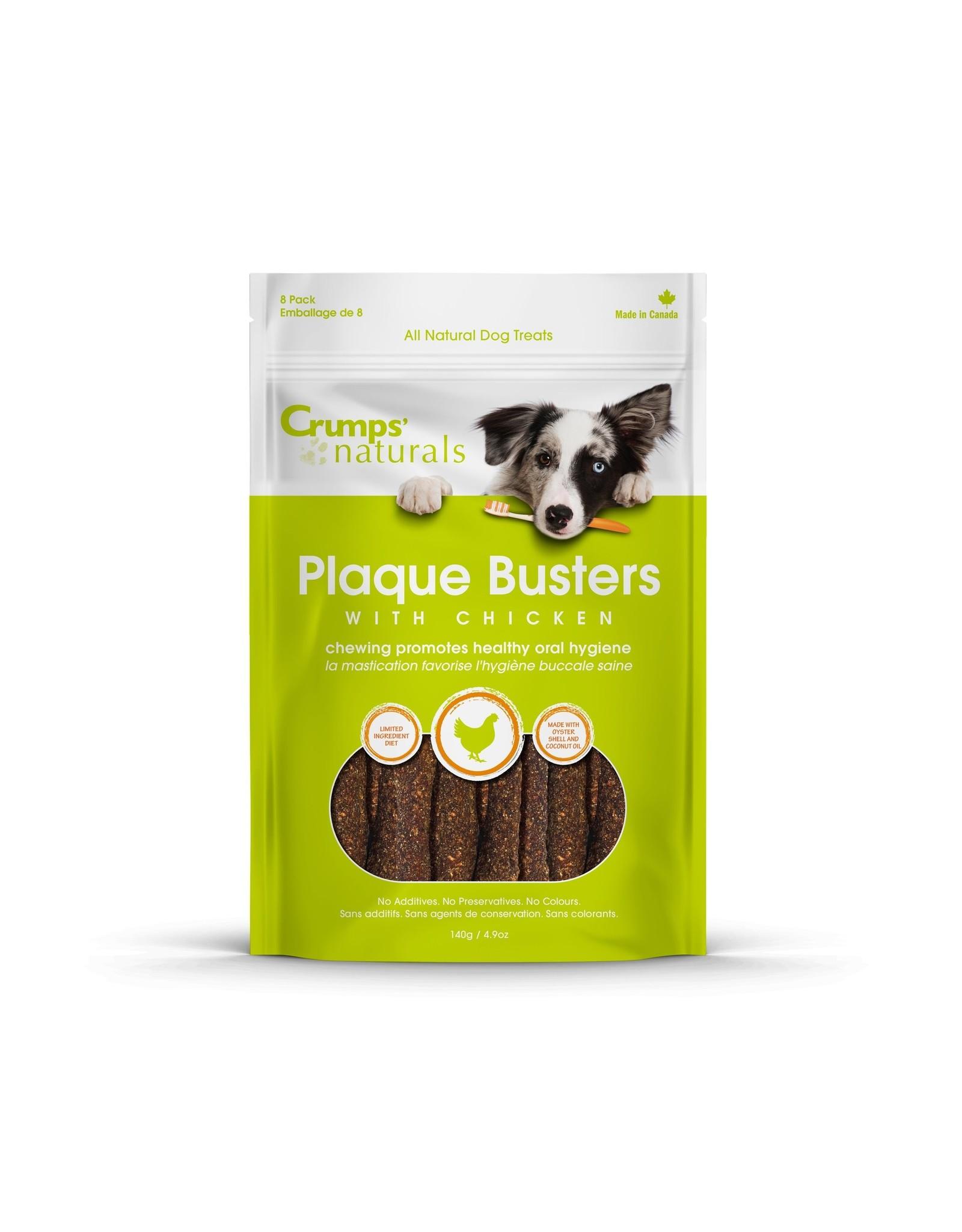 Crumps Naturals Crumps' Naturals Plaque Busters Chicken 7in 4.9oz Limited Ingredient Dog Dental Chews