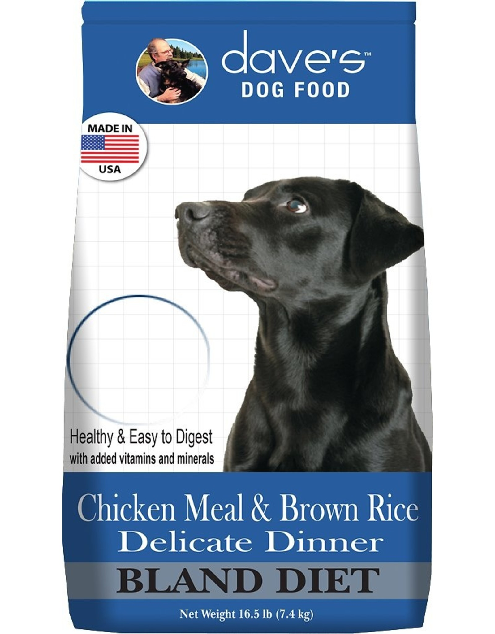 Daves Pet Food Daves Dog Dry Delicate Dinner Chicken Meal and Brown Rice 4lb