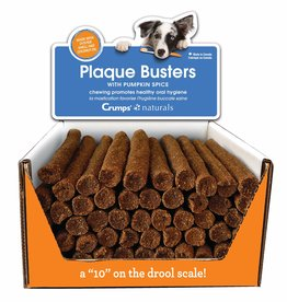 Crumps Naturals Plaque Busters Pumpkin Spice Dental Treats by the Each