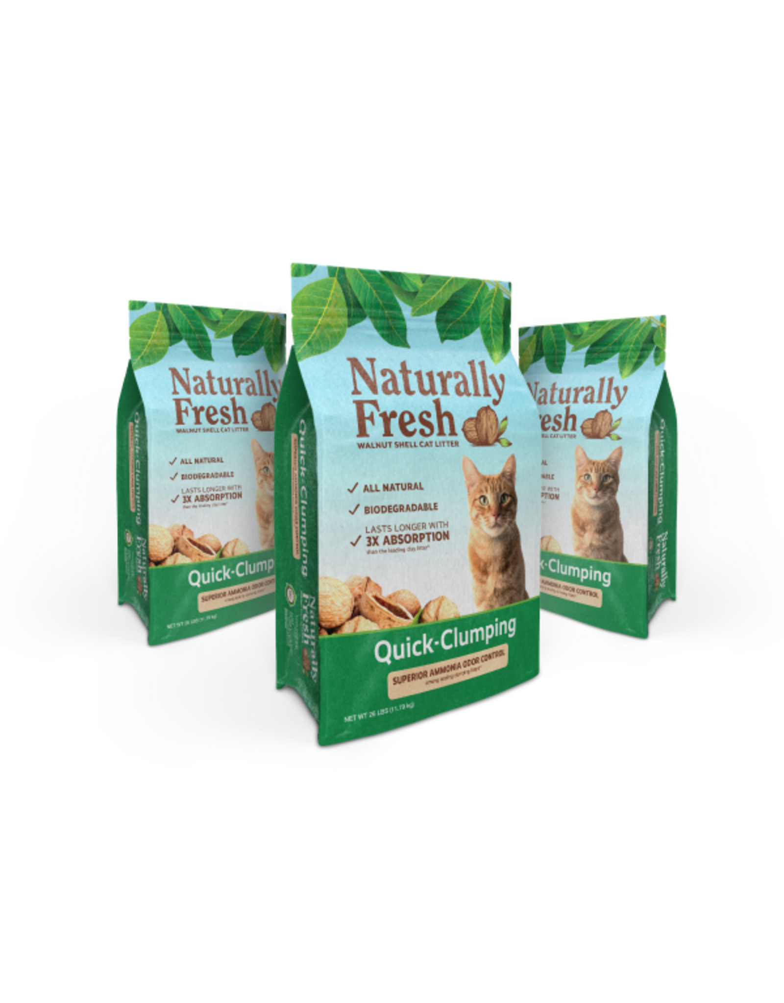 Eco-Shell Naturally Fresh Walnut Based Unscented Quick Clumping Litter