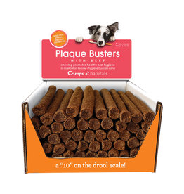 Crumps Naturals Plaque Busters Beef Dental Treats by the Each