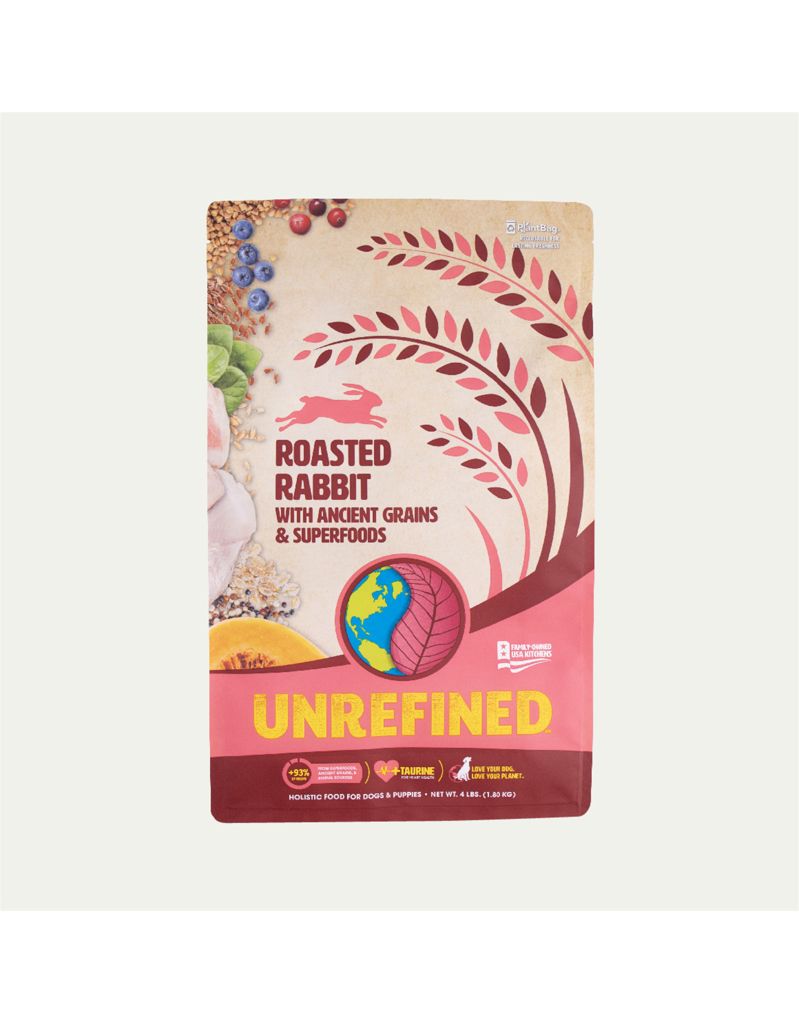Earthborn Earthborn Holistic Dry Dog Food UNREFINED Roasted Rabbit with Ancient Grains and Superfoods Grain Inclusive