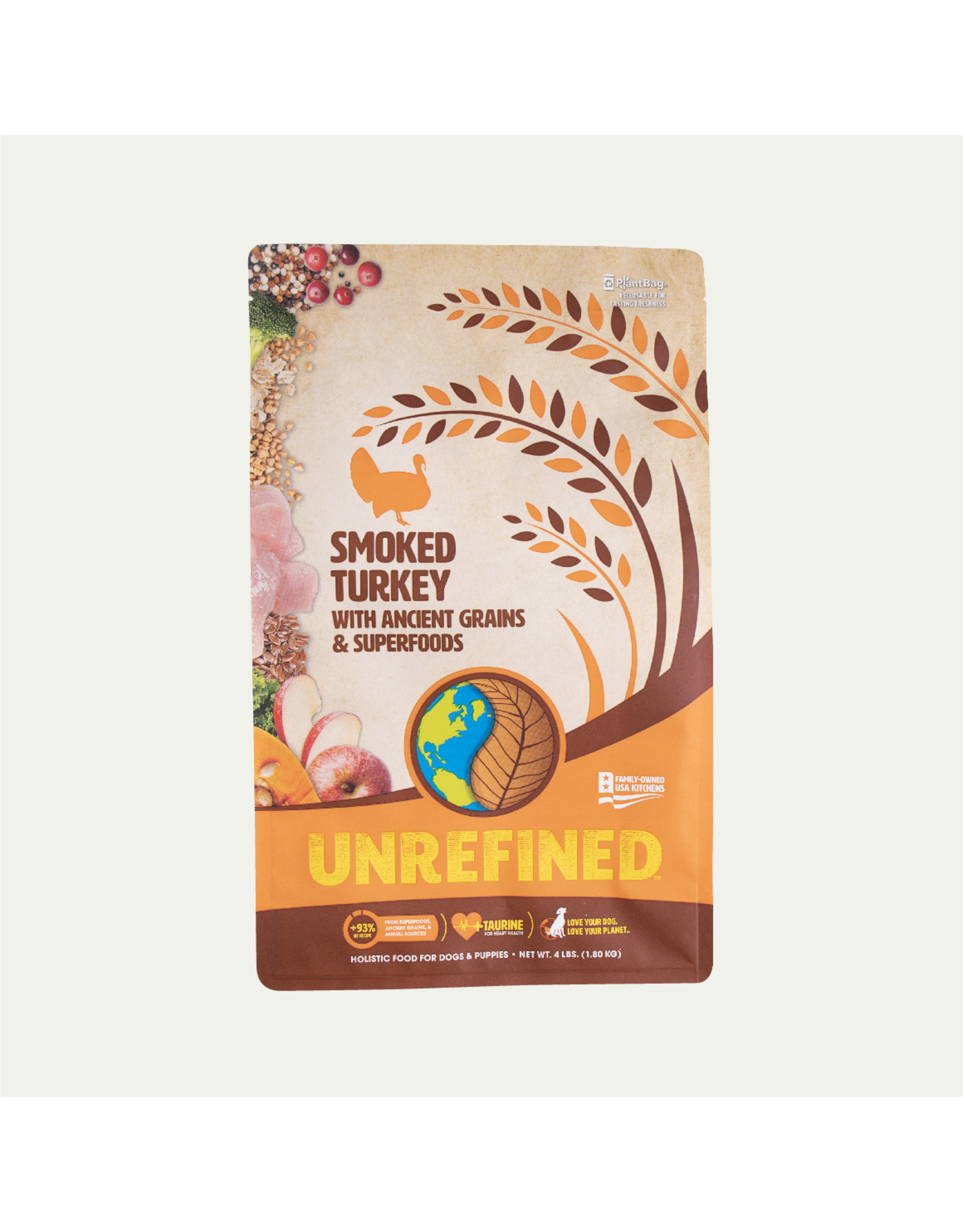 Earthborn Earthborn Holistic Dry Dog Food UNREFINED Smoked Turkey with Ancient Grains and Superfoods Grain Inclusive