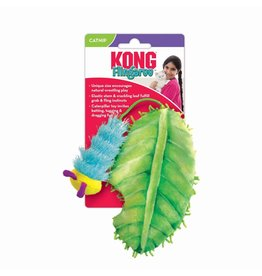 Kong Kong Flingeroo Caterpillar and Leaf Cat Toy
