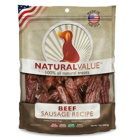 Natural Value Sausage Treats Beef 14oz
