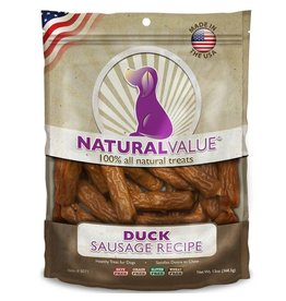 Natural Value Sausage Treats Duck 14oz