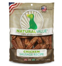 Natural Value Sausage Treats Chicken 14oz