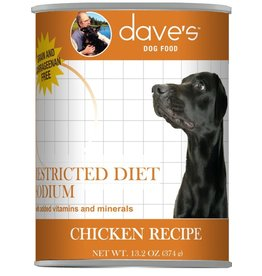 Dave's Dog Can Restricted Sodium Chicken 13oz
