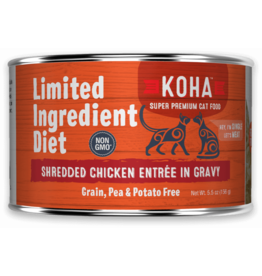 Koha Koha Cat Can LID Shredded Chicken 5.5oz