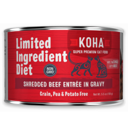Koha Koha Cat Can LID Shredded Beef 5.5oz