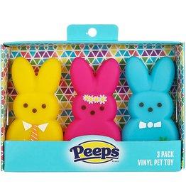 Peeps Peeps Squeaky Bunnies Dog Toys 3pk