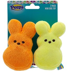 Peeps Peeps Mini Plush Bunnies Dog Toys 2pk