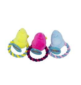 Peeps Peeps Plush Chick Rope Dog Tug Toy