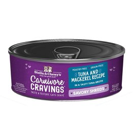 Stella and Chewys SC Carnivore Cravings Shredded Tuna & Mackerel 2.8oz