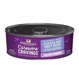 Stella and Chewys SC Carnivore Cravings Shredded Chicken & Turkey 2.8oz