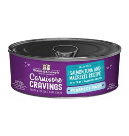 Stella and Chewys SC Carnivore Cravings Pate Salmon Tuna Mackerel 2.8oz