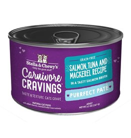 Stella and Chewys SC Carnivore Cravings Pate Salmon Tuna Mackerel 5.2oz