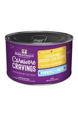 Stella and Chewys Stella & Chewy's Wet Cat Food Carnivore Cravings Purrfect Pate Chicken and Chicken Liver Recipe 5.2oz Can Grain Free