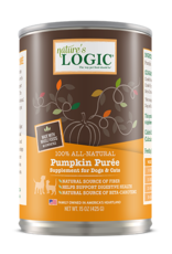 Nature's Logic Nature's Logic Pumpkin Puree Supplement for Dogs and Cats 15oz Can