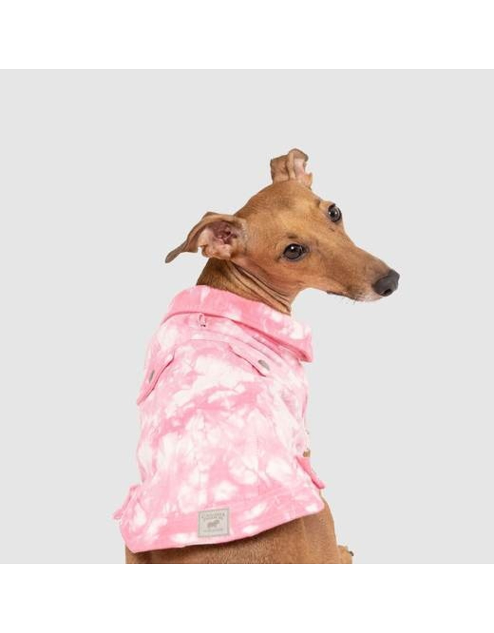 Canada Pooch Canada Pooch Downtown Pink Denim Jean Vest for Dogs and Cats