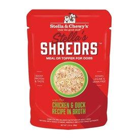 Stella and Chewys Stella's Shredrs Dog Chicken & Duck 2.8oz Pouch