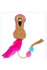 Mad Cat by Cosmic Mad Cat Crafty Cat Fun Flamingo Catnip and Silvervine Toy