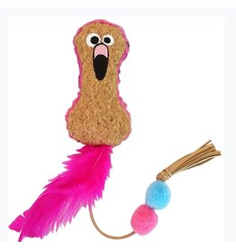 Mad Cat by Cosmic Mad Cat Crafty Cat Flamingo Catnip Toy