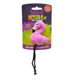 Mad Cat by Cosmic Mad Cat Flingin' Flamingo Catnip Toy