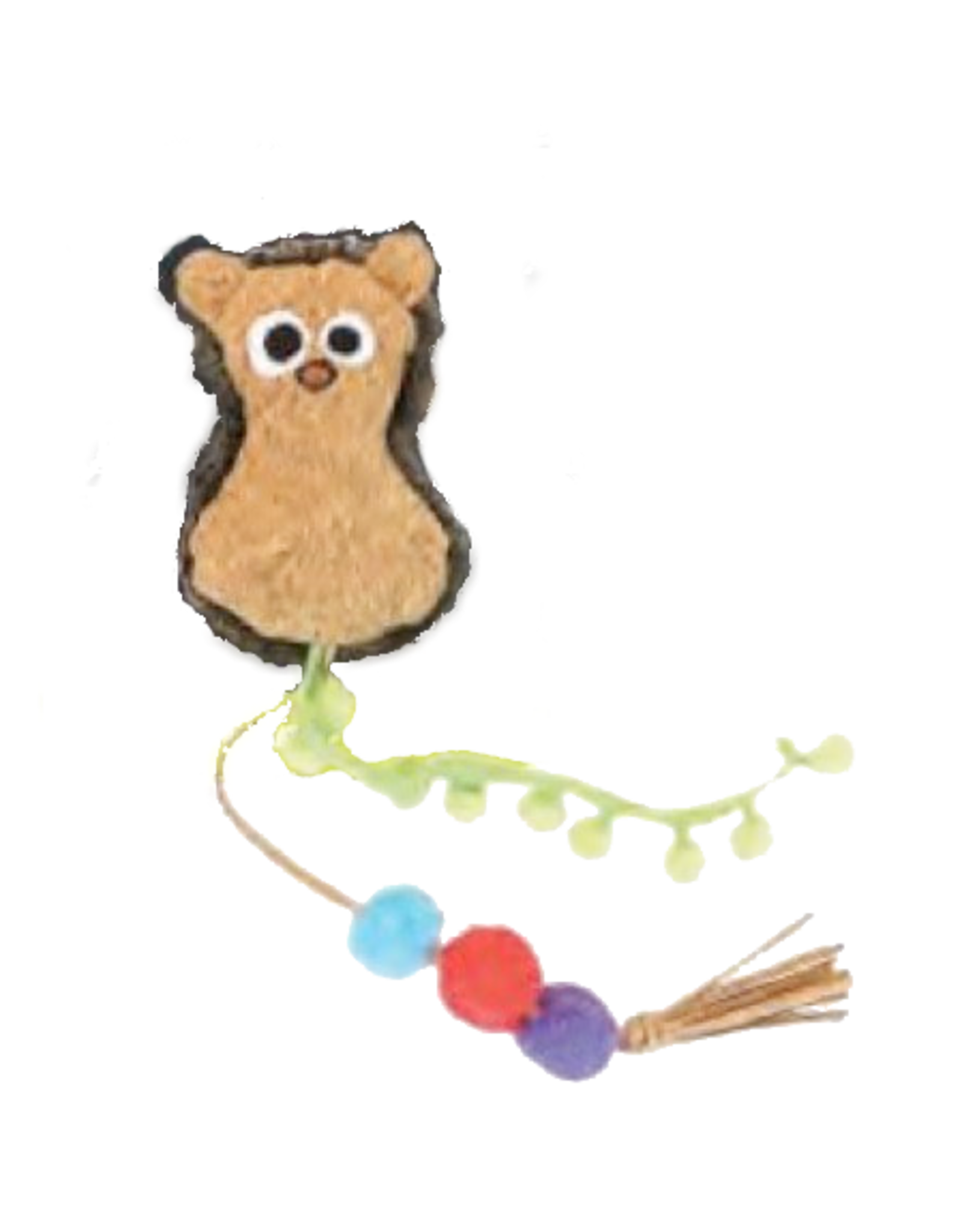 Mad Cat by Cosmic Mad Cat Crafty Cat Playful Pom Hedgehog Catnip and Silvervine Toy