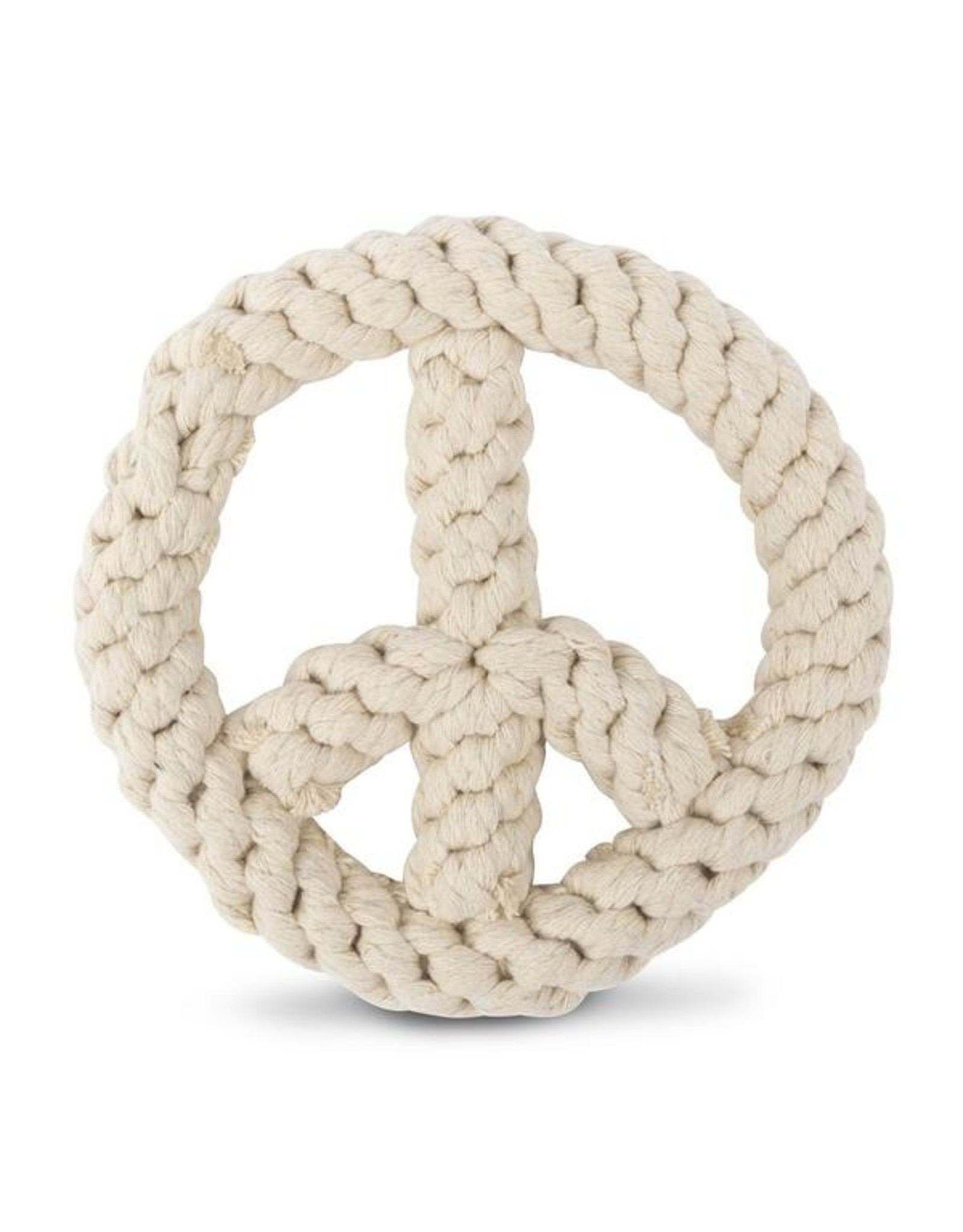 Harry Barker Harry Barker Peace on Earth Peace Sign Knotted Rope Dog Toy