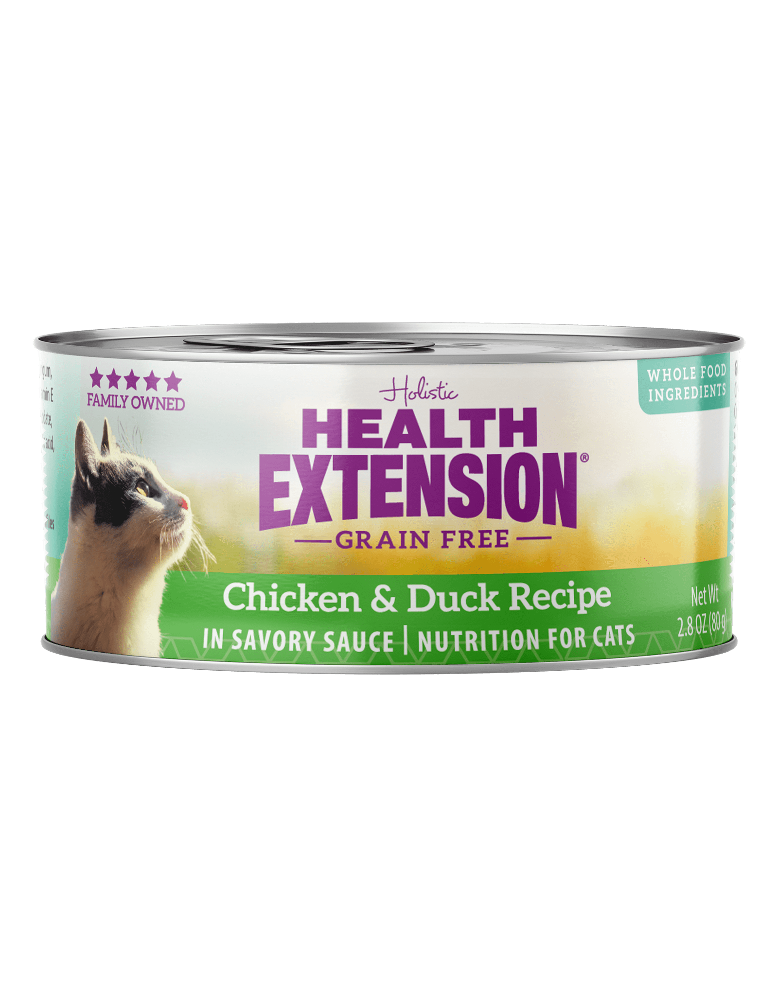 Health Extension Health Extension Wet Cat Food Chicken and Duck Recipe in Savory Sauce 2.8oz Can Grain Free