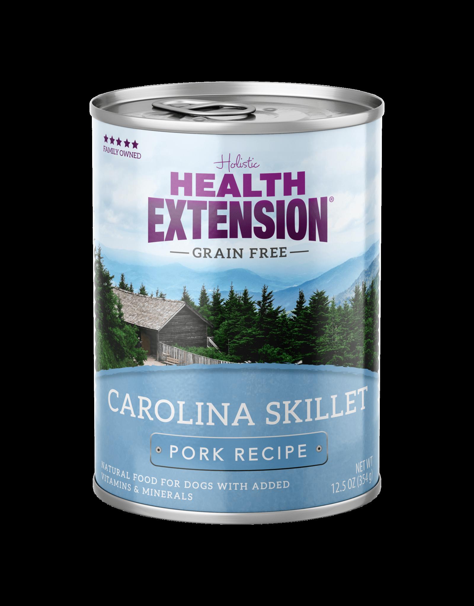 Health Extension Health Extension Wet Dog Food Carolina Skillet Pork Recipe 12.5oz Can Grain Free