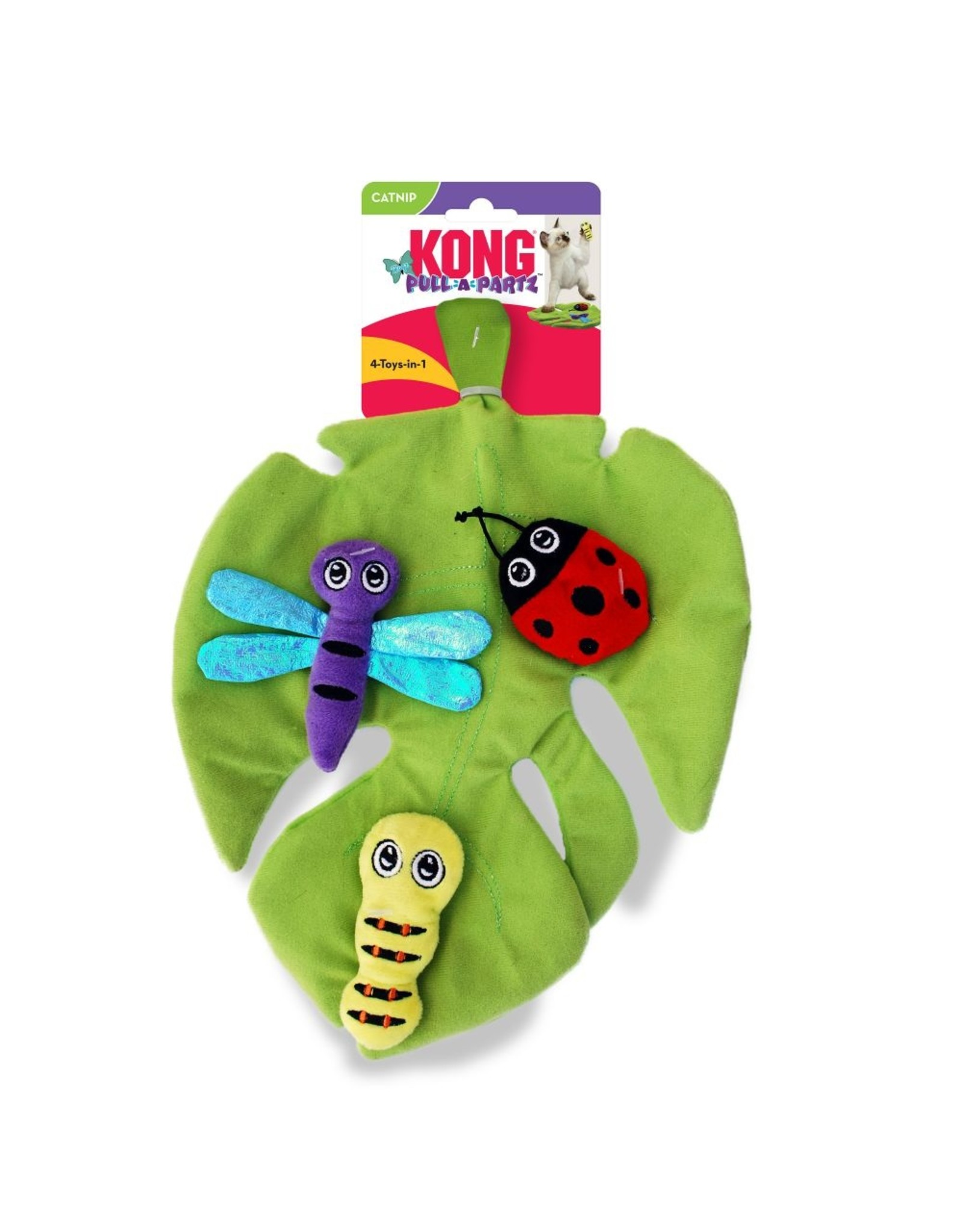 Kong Kong Pull-a-Partz Bugz Crinkle Mat Cat Toy