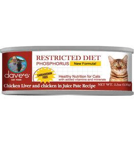 Dave's Pet Food Dave's Cat Restricted Phosphorus Chicken Dinner 5.5oz