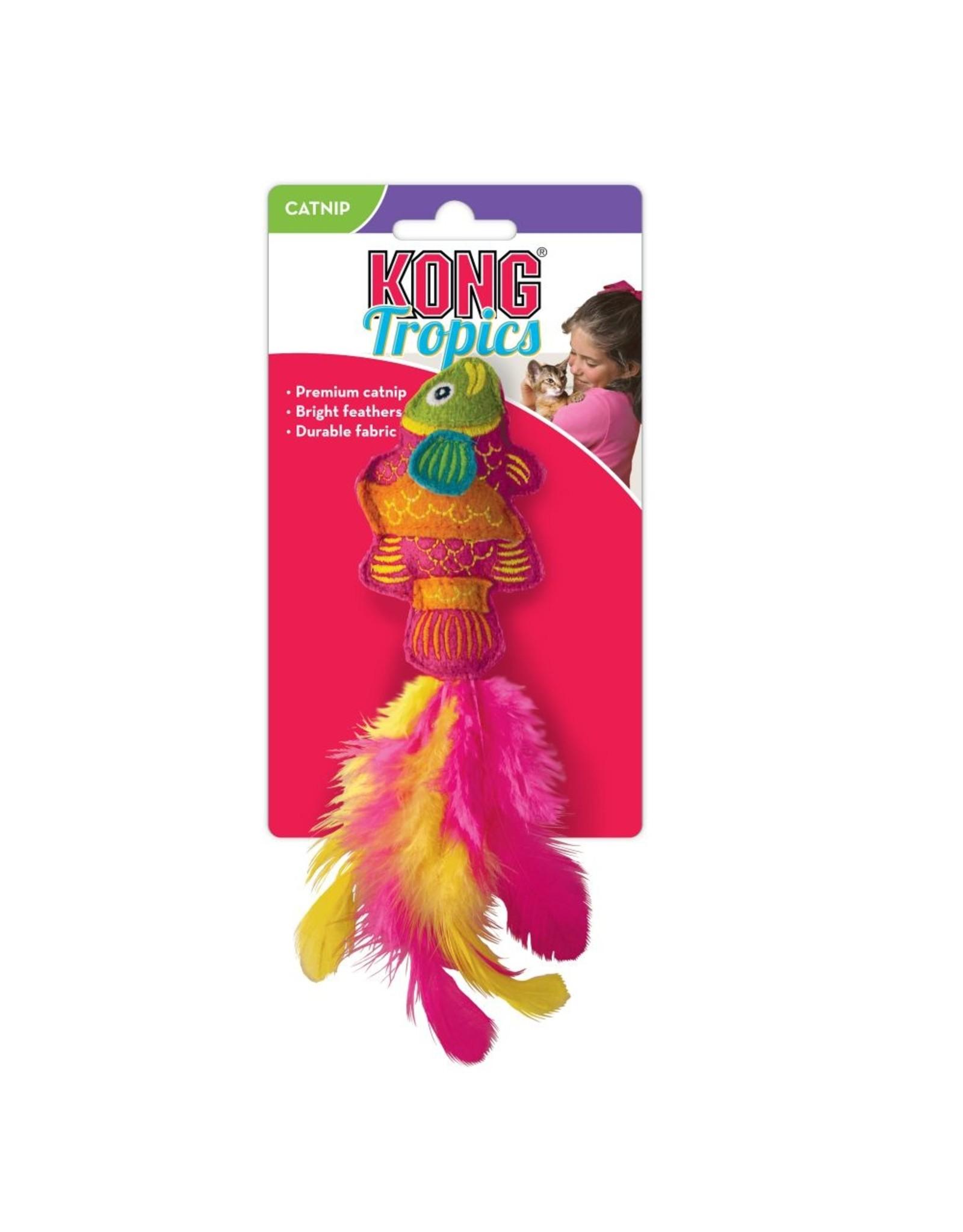 Kong Kong Tropics Pink Fish Wool and Catnip Cat Toy