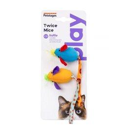 Petstages Cat Twice Mice Toy