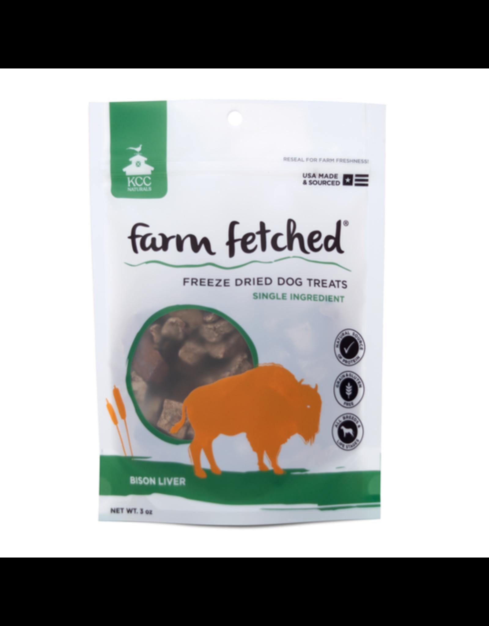 KCC KCC Naturals Farm Fetched Freeze Dried Bison Liver Dog Treat 3oz