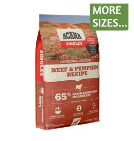 Acana Acana Dog Dry Singles LID Beef & Pumpkin GF