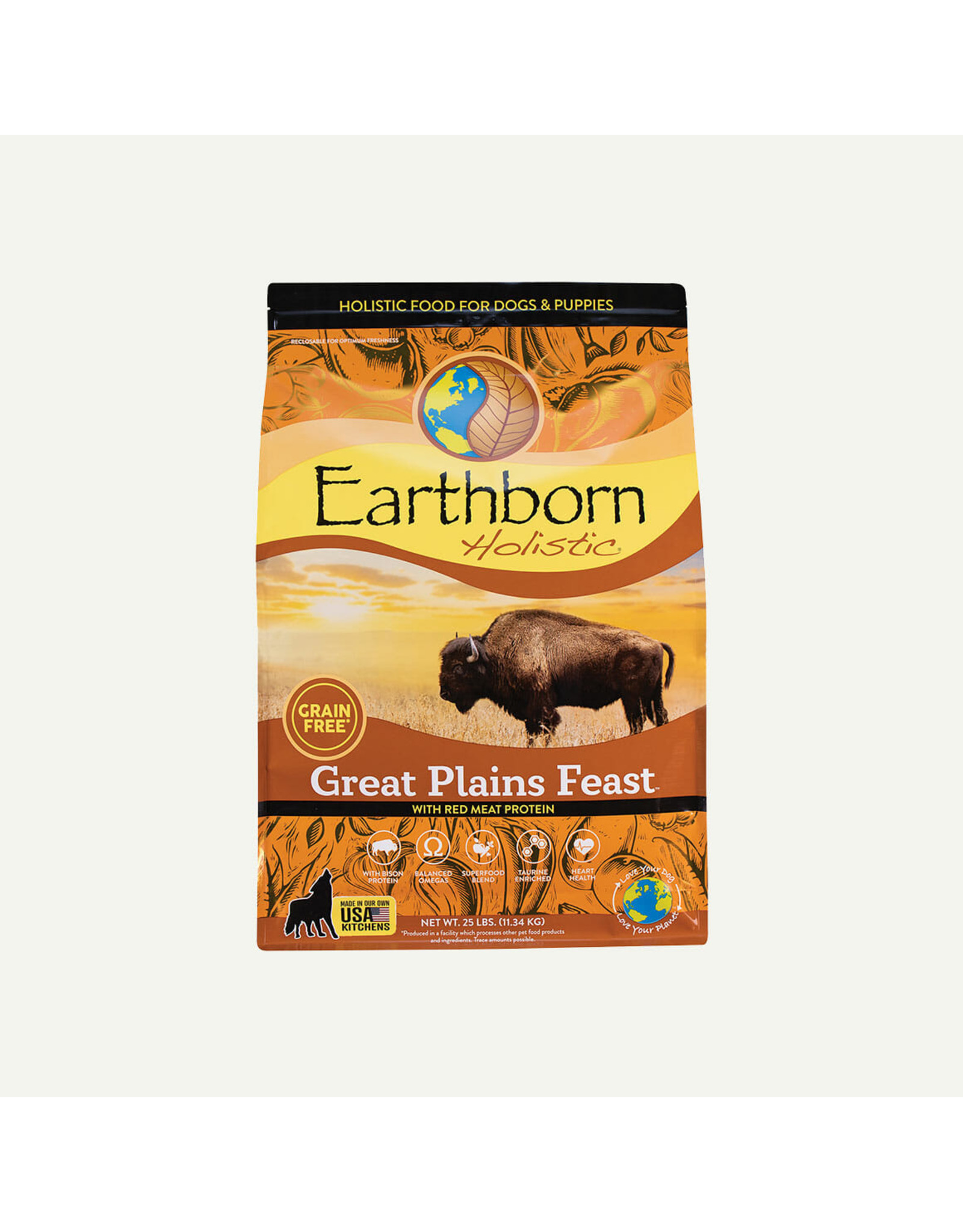 Earthborn Earthborn Holistic Dry Dog Food Great Plains Feast with Red Meat ProteinGrain Free