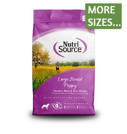 NutriSource NutriSource Dog Dry Lg Breed Puppy Chicken & Rice