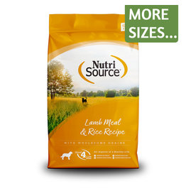 NutriSource NutriSource Dog Dry Lamb & Rice