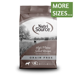 NutriSource NutriSource Dog Dry GF High Plains Select