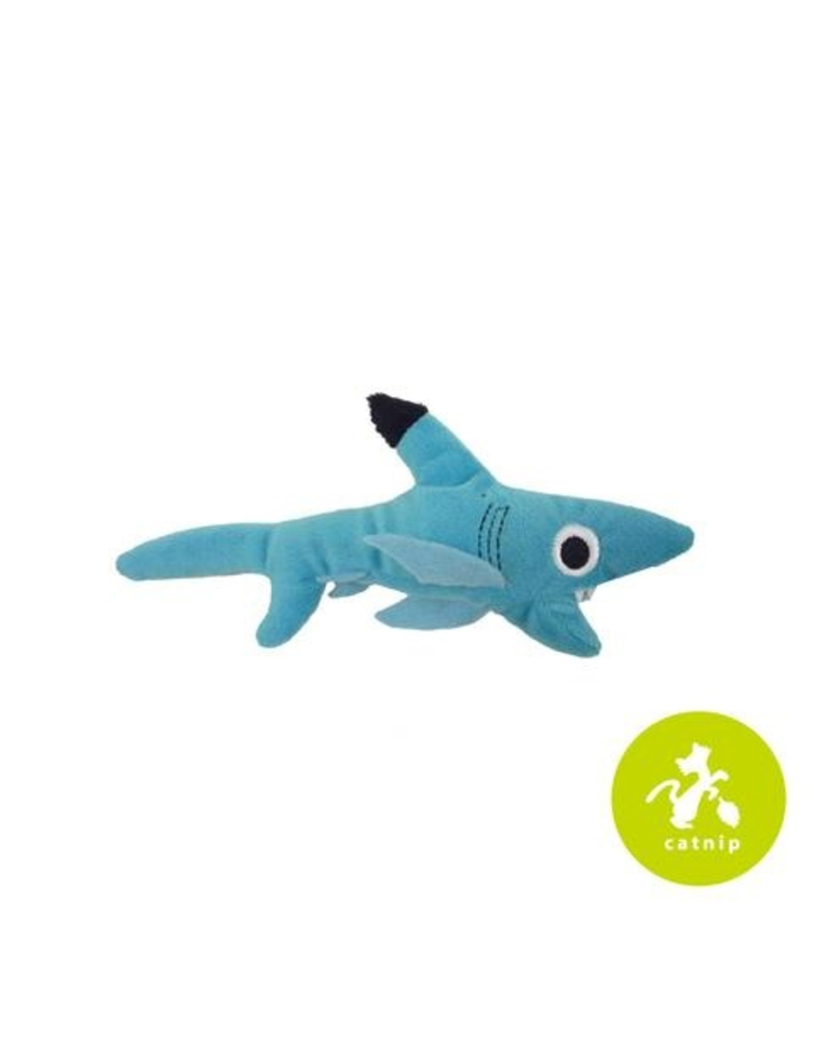 Mad Cat by Cosmic Mad Cat Shark Biter Plush Catnip and Silvervine Cat Toy