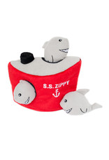 Zippy Paws Burrows Shark Ship Dog Toy