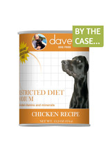 Daves Pet Food Dave's Wet Dog Food Restricted Diet Sodium Chicken Recipe 13oz Can Grain Free