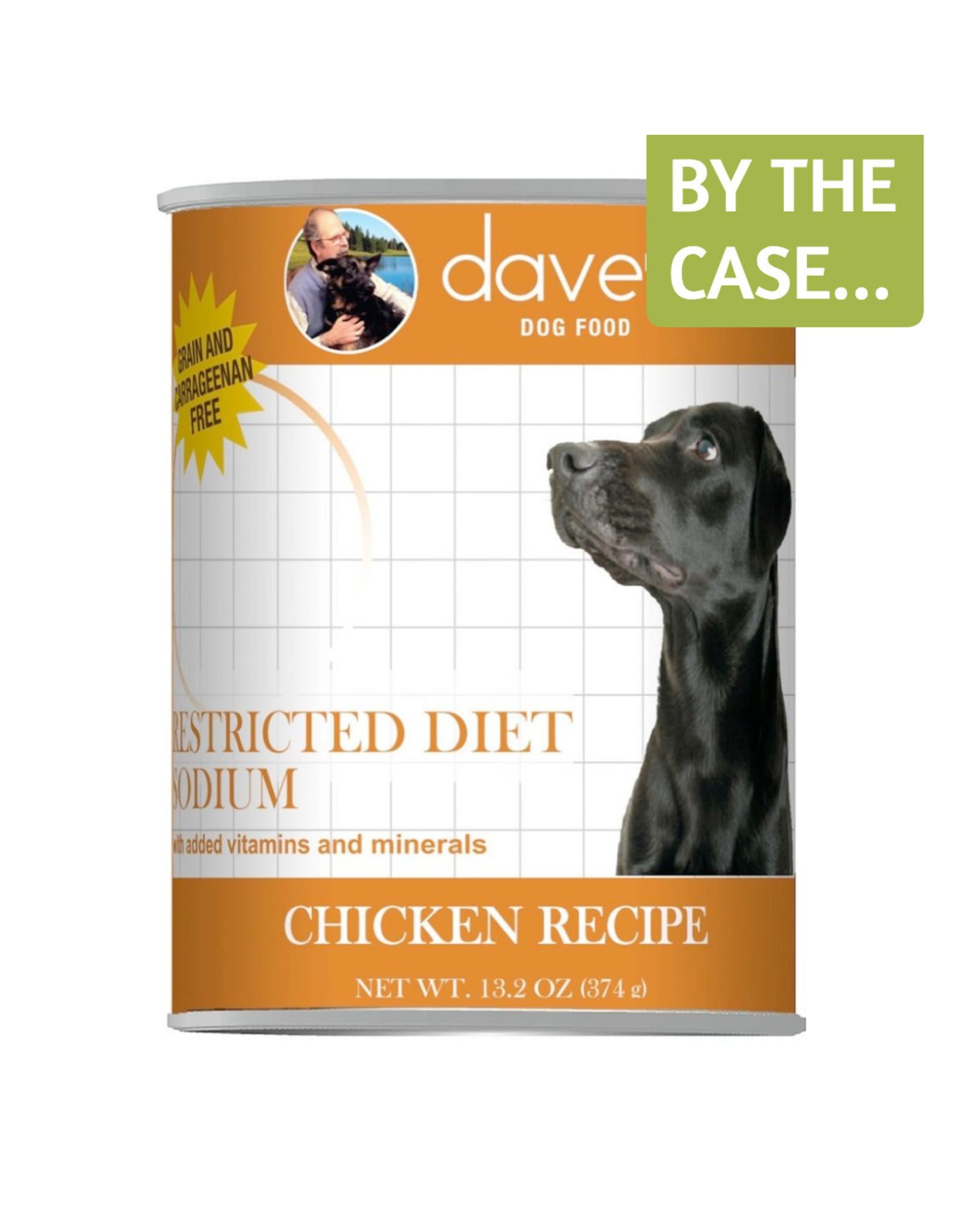 Dave's Wet Dog Food Restricted Diet Sodium Chicken Recipe 13oz Can Grain Free
