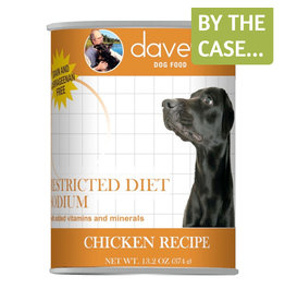 Daves Pet Food Dave's Dog Can Restricted Sodium Chicken 13oz